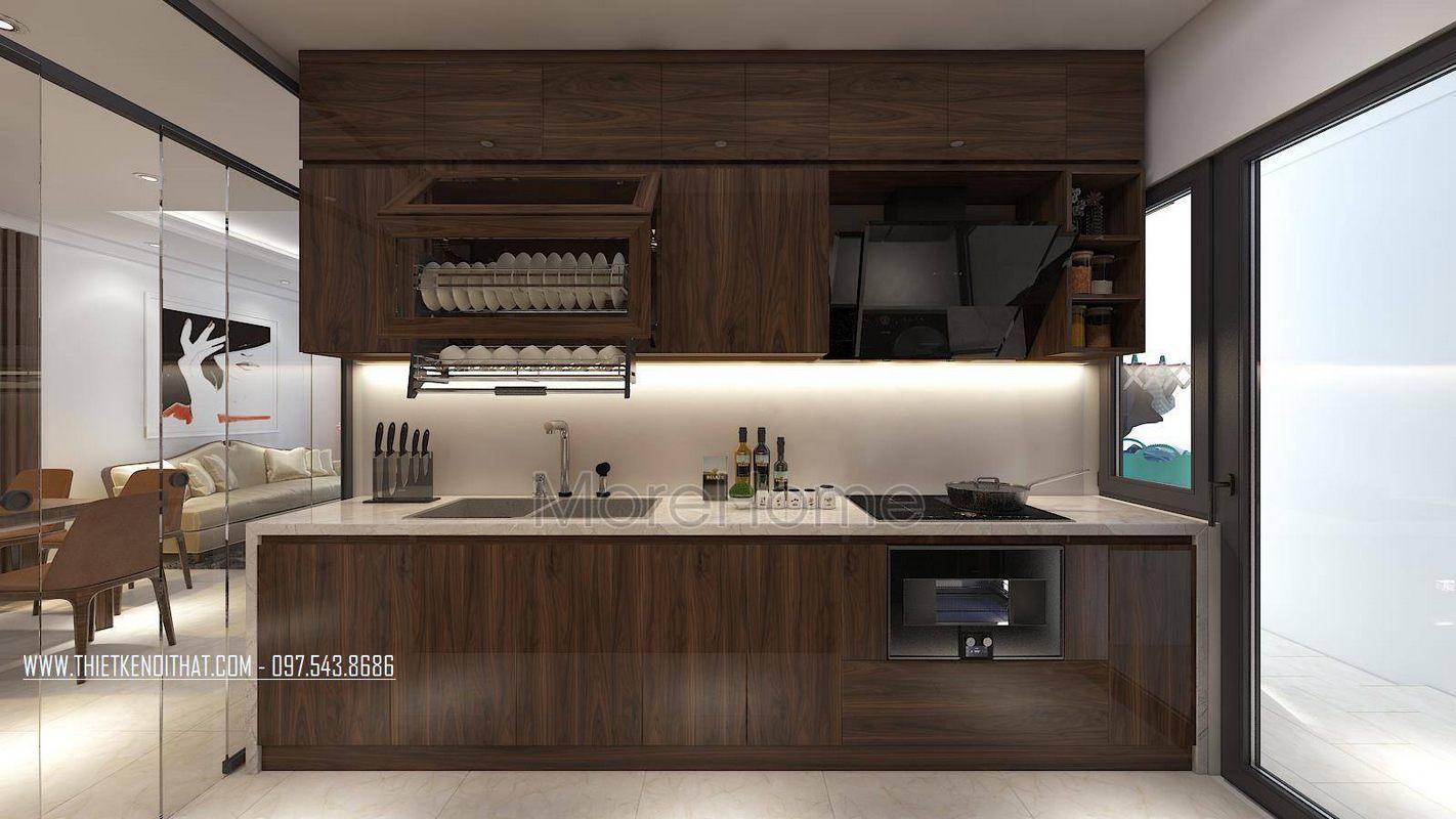 Tủ bếp hiện đại cho chung cư gamuda garden hoàng mai hà nội