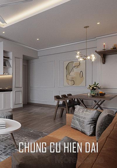 Thiết kế nội thất hiện đại mang phong cách trẻ trung, độc đáo cho căn hộ chung cư