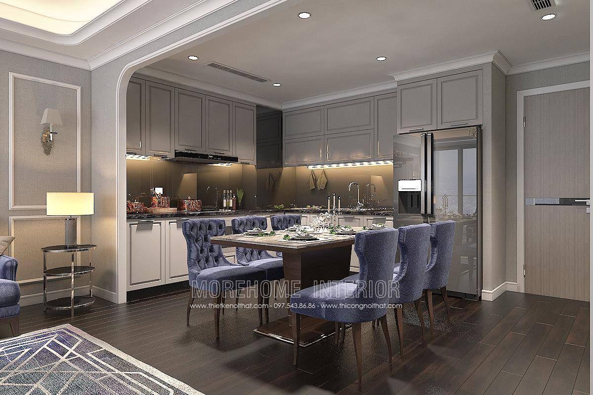 Thiết kế nội thất phòng ăn chung cư hongkong tower