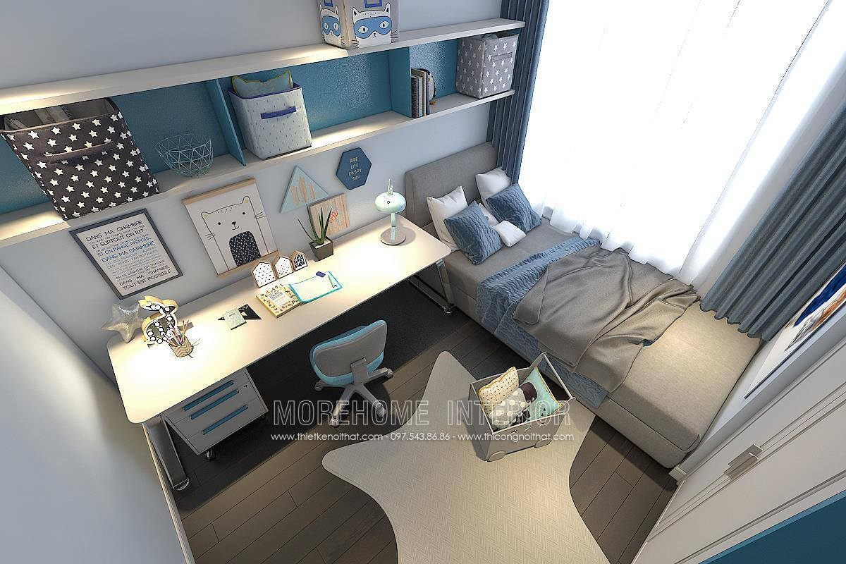 Thiết kế phòng ngủ bé trai chung cư hongkong tower