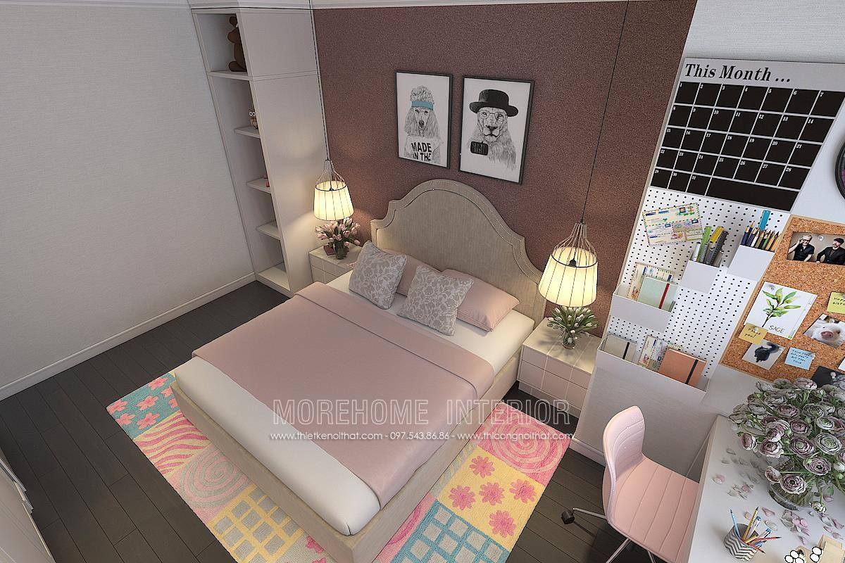 Thiết kế phòng ngủ bé gái chung cư hong kong tower 243A đê la thành đống đa hà nội