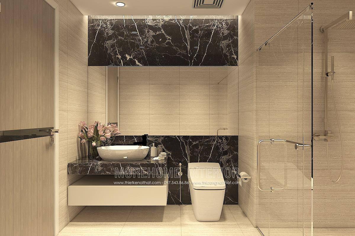 Thiết kế phòng tắm nhà vệ sinh cho chung cư hongkong tower 243a đê la thành