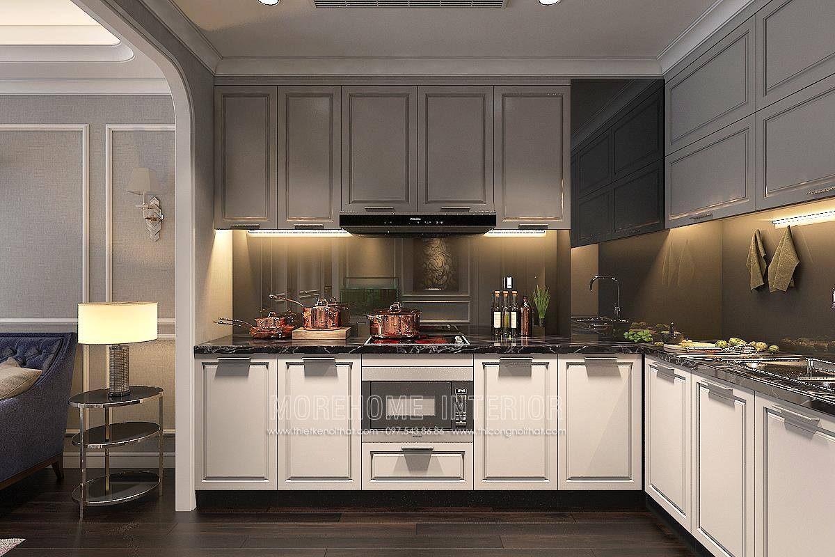 Tủ bếp đẹp cho chung cư hongkong tower 243a đê la thành