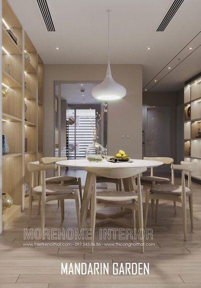 Thiết kế nội thất chung cư Mandarin Garden phong cách hiện đại