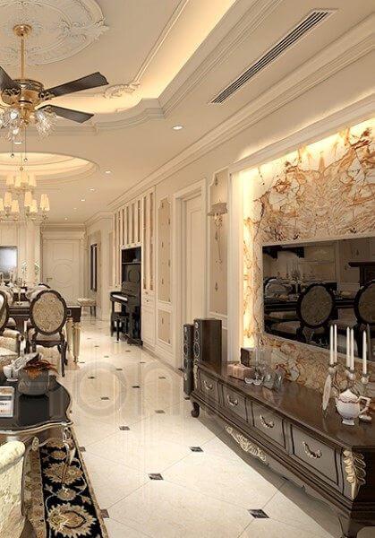 Thiết kế nội thất chung cư tân cổ điển VinHomes Nguyễn Chí Thanh - chị Nguyệt