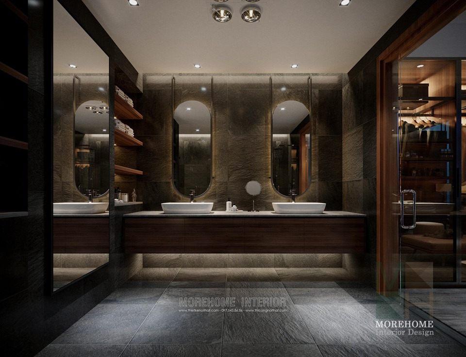 Nội thất phòng tắm nhà vệ sinh đẹp tại chung cư vinhomes skylake phạm hùng