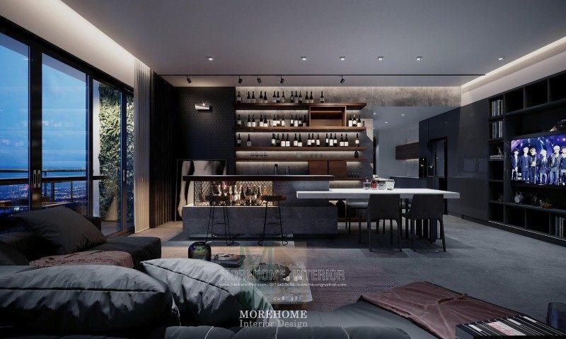 Thiết kế nội thất phòng khách chung cư vinhomes skylake phạm hùng nam từ liêm hà nộia