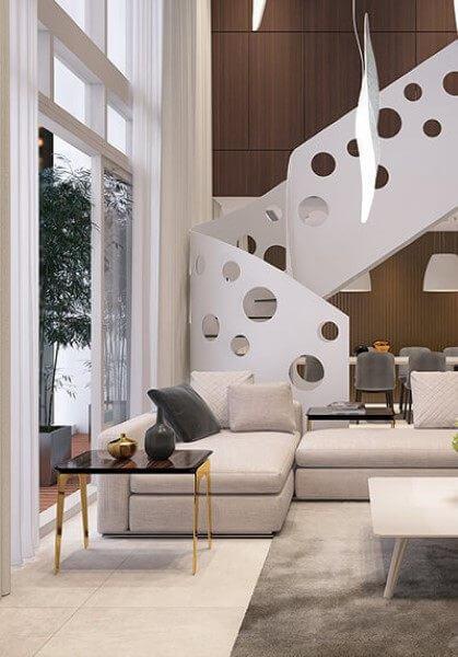 Thiết kế nội thất căn hộ chung cư cao cấp Duplex Mandarin Garden sang trọng