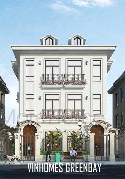 Thiết kế kiến trúc và nội thất biệt thự tân cổ điển Vinhomes GreenBay