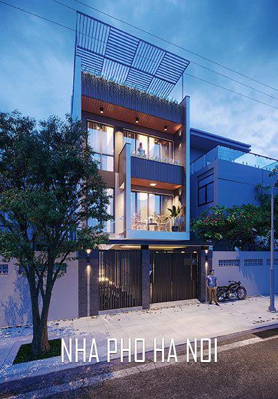 Thiết kế kiến trúc nhà phố liền kề hiện đại tại Kim Giang Hà Nội