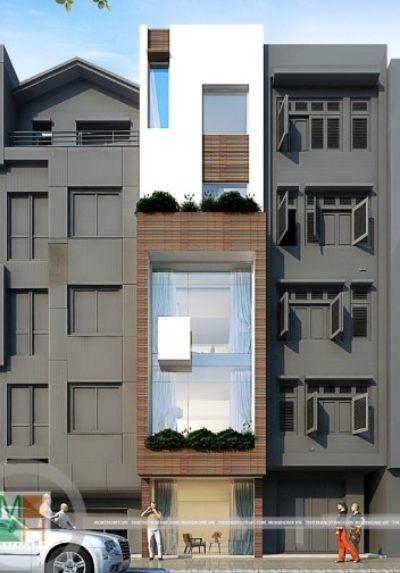Thiết kế kiến trúc và nội thất nhà phố hiện đại - chị Phượng