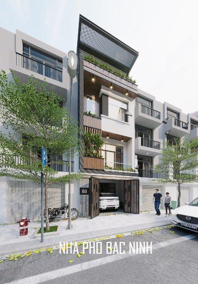 Thiết kế kiến trúc nhà phố 3 tầng hiện đại tại Bắc Ninh
