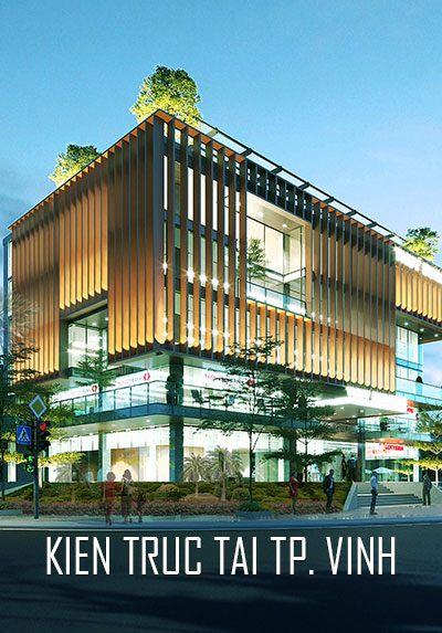 Thiết kế kiến trúc tòa nhà Văn phòng và thương mại tại Tp. Vinh