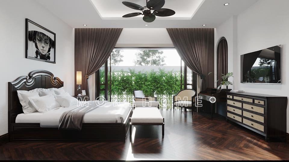 Giường ngủ đẹp cho nhà phong cách á đông