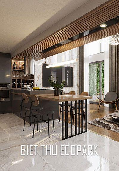 Thiết kế nội thất biệt thự AQUABAY CENTRAL LAKE 2 ECOPARK