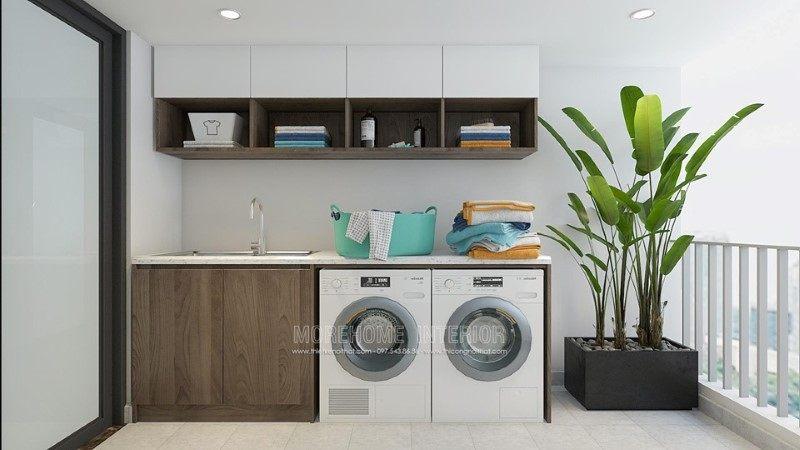 Thiết kế khu vực giặt đồ cho biệt thự Gamuda Hoàng Mai Hà Nội