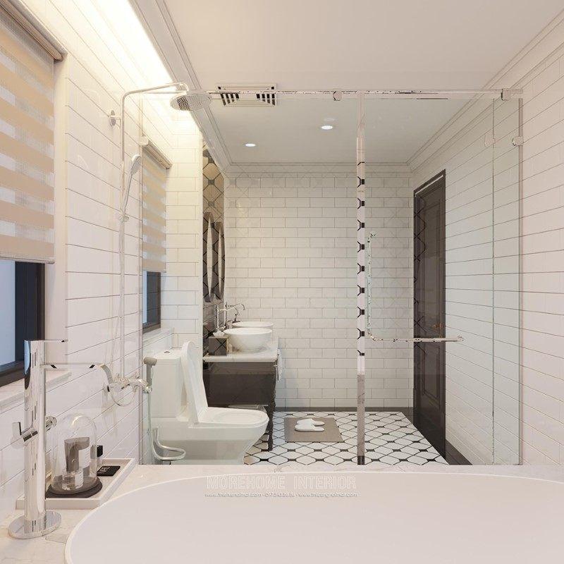 Thiết kế nội thất nhà tắm, phòng vệ sinh biệt thự Gamuda Hoàng Mai Hà Nội