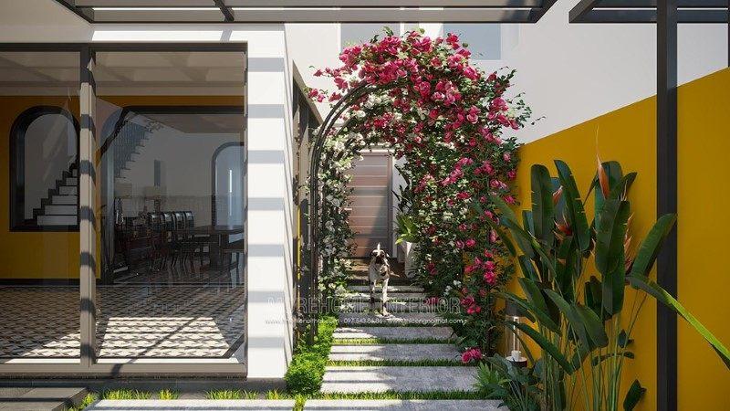 Thiết kế ngoại thất biệt thự Gamuda Hoàng Mai Hà Nội