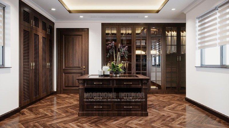 Tủ áo đẹp cho biệt thự Gamuda Hoàng Mai Hà Nội