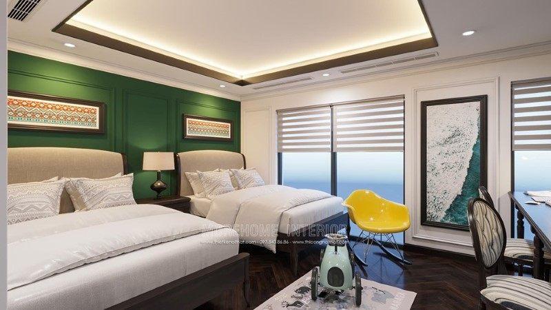 Thiết kế nội thất phòng ngủ trẻ em biệt thự Gamuda Hoàng Mai Hà Nội