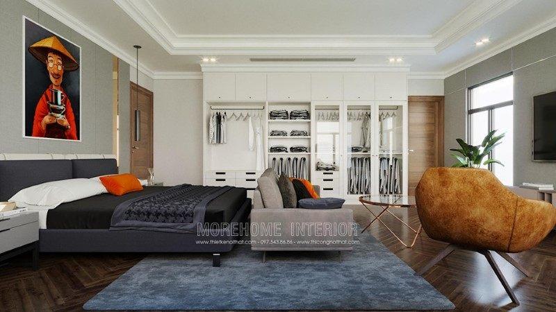 Thiết kế nội thất phòng ngủ biệt thự hải dương