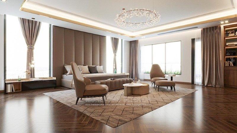 Thiết kế nội thất phòng khách biệt thự hải dương