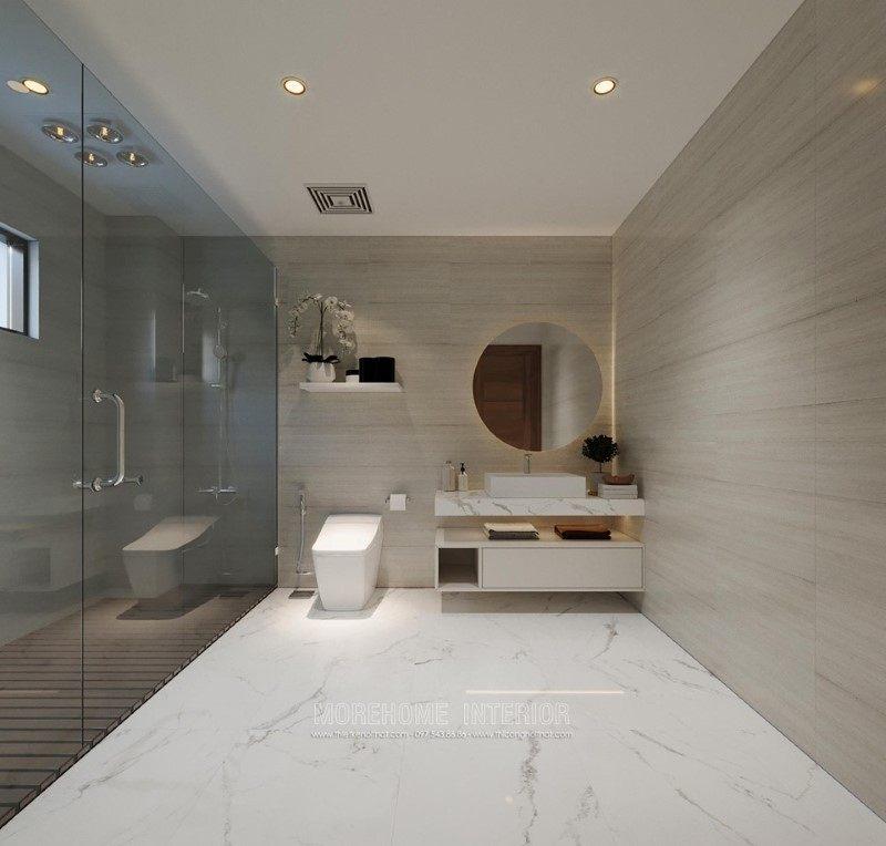 Thiết kế phòng tắm, nhà vệ sinh biệt thự hải dương