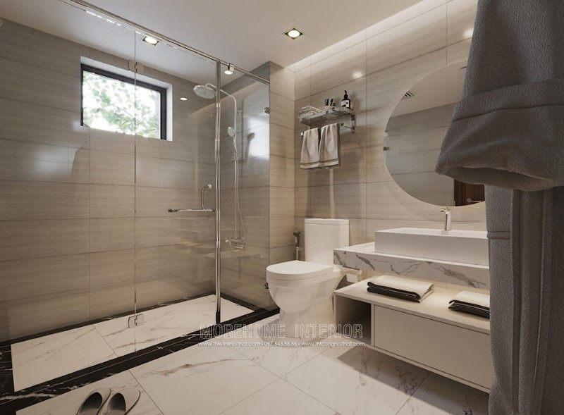 Thiết kế phòng tắm, nhà vệ sinh cho biệt thự hải dương