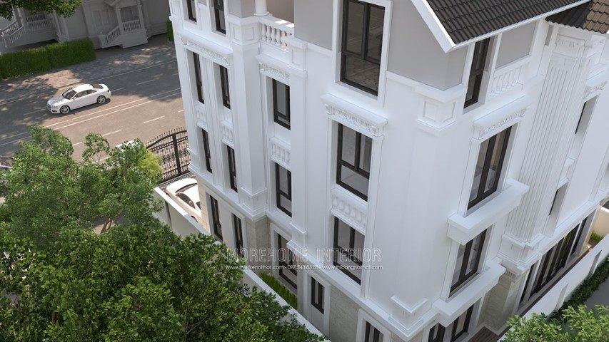 Thiết kế kiến trúc biệt thự 4 tầng tại KĐT Đằng Hải Hải An Hải Phòng