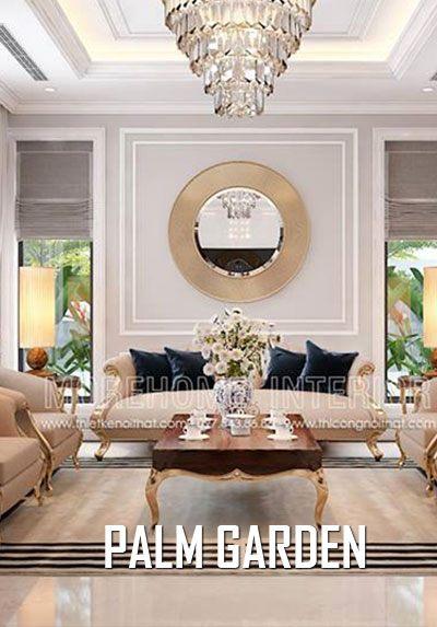 Thiết kế nội thất biệt thự Palm Garden phong cách tân cổ điển sang trọng