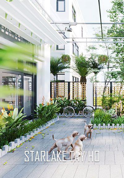 Thiết kế nội thất biệt thự Starlake Tây Hồ gỗ óc chó đẹp, cao cấp
