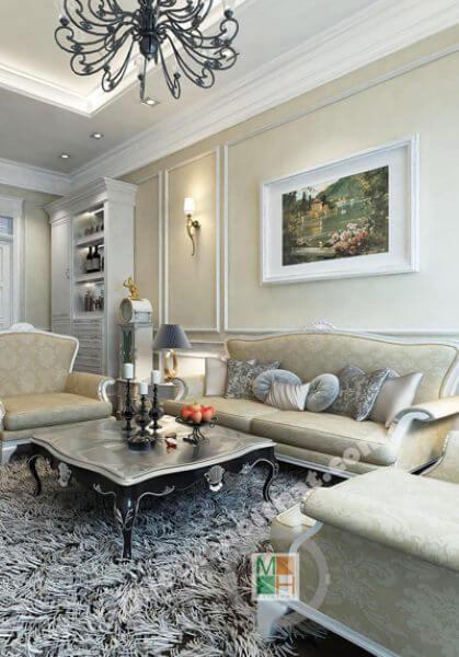 Thiết kế nội thất biệt thự Xuân Phương tân cổ điển, cao cấp, đẹp