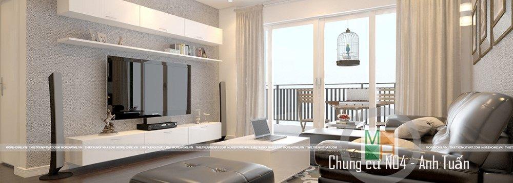 Thiết kế nội thất căn hộ chung cư N04 - Anh Tuấn