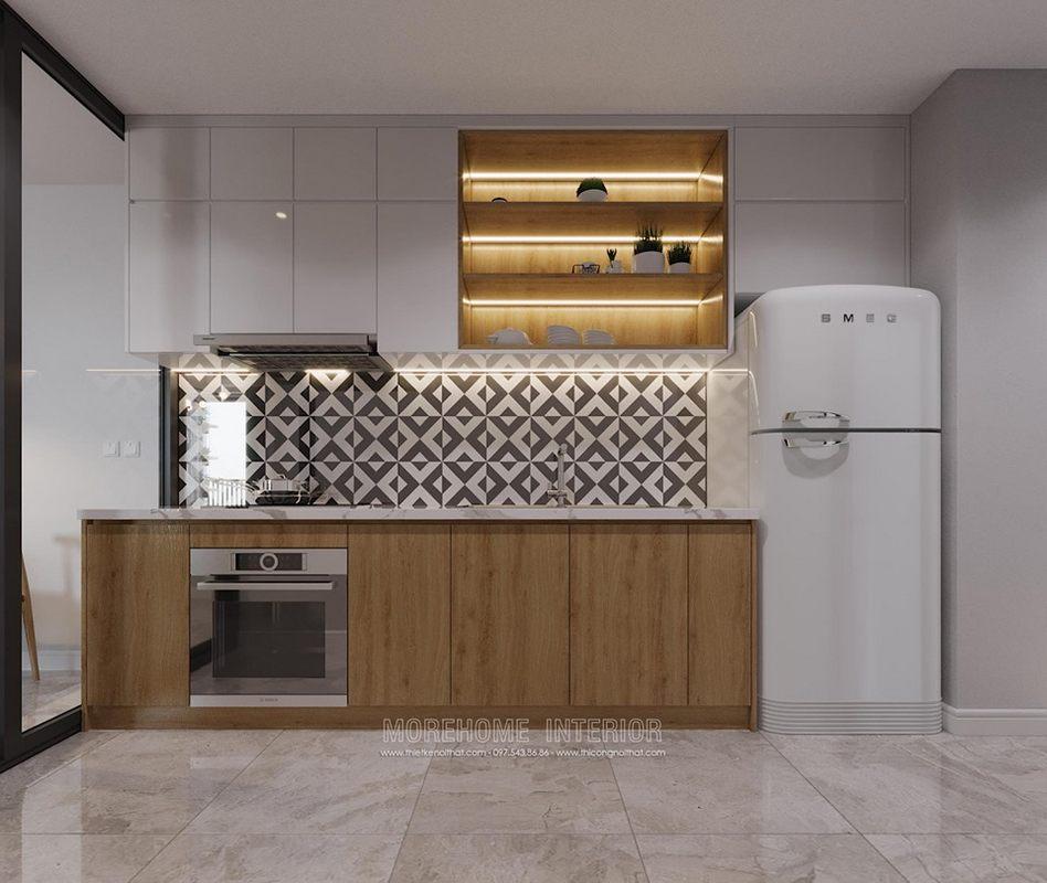 Tủ bếp hiện đại chung cư D'capitale Cầu Giấy Hà Nội