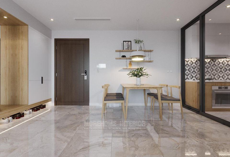Thiết kế nội thất phòng ăn chung cư D'capital