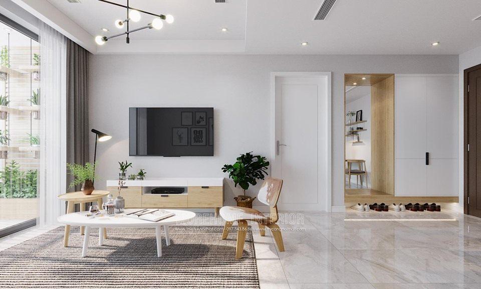 Thiết kế nội thất phòng khách chung cư D'capitale