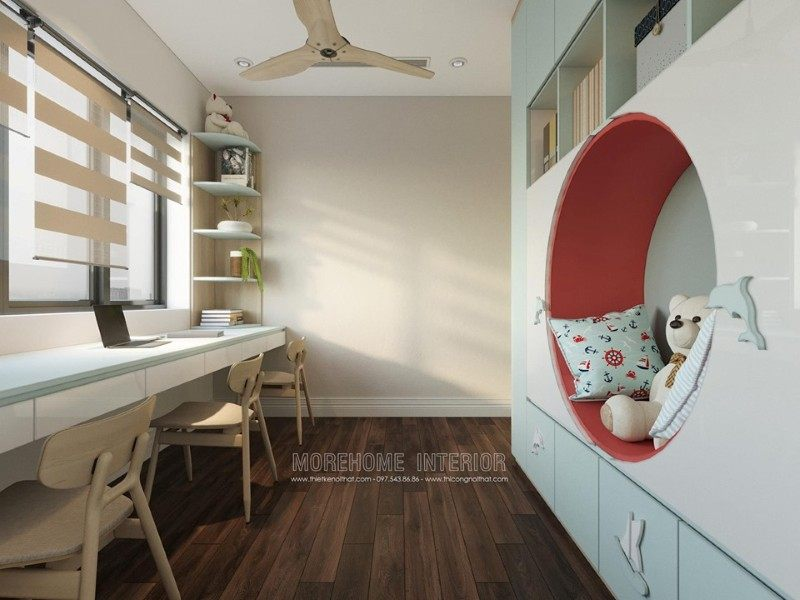 Thiết kế nội thất phòng ngủ chung cư D'capitale Trần Duy Hưng