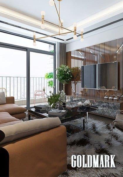 Thiết kế chung cư GoldMark City độc đáo sáng tạo với chất liệu gỗ óc chó thượng hạng - Anh Linh