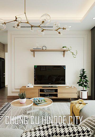 Thiết kế nội thất chung cư Hinode City Minh Khai hiện đại trẻ trung