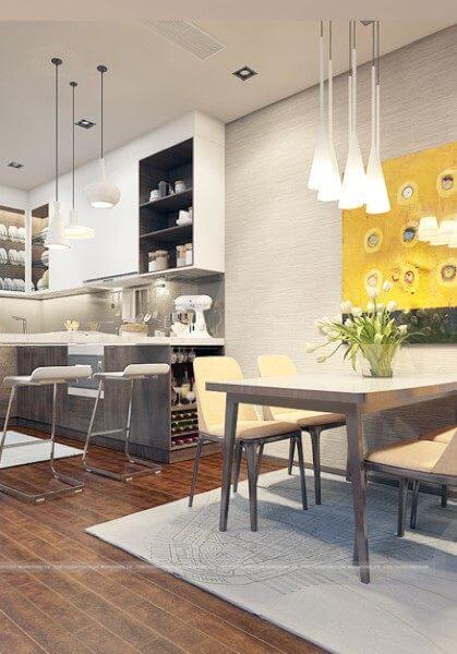 Thiết kế nội thất căn mẫu chung cư Imperia Garden City 203 Nguyễn Huy Tưởng căn hộ 74m2