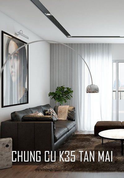 Thiết kế nội thất chung cư K35 Tân Mai hiện đại cho gia đình trẻ