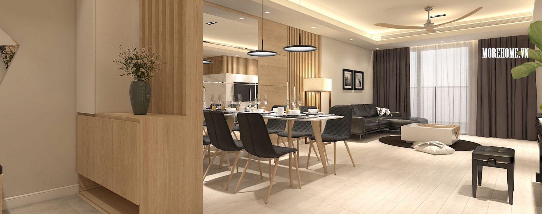 Thiết kế nội thất chung cư Mandarin 2 Tân Mai