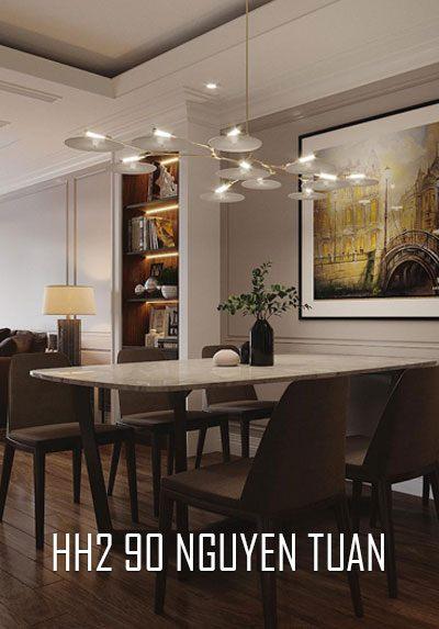 Thiết kế nội thất chung cư HH2 Nguyễn Tuân phong cách hiện đại