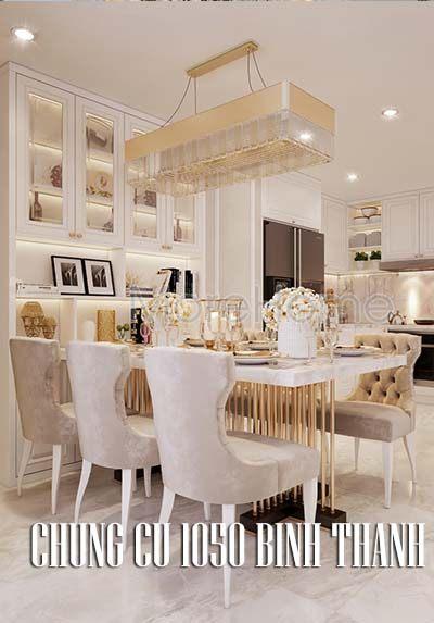 Thiết kế nội thất chung cư 1050 Bình Thạnh nhẹ nhàng thanh lịch