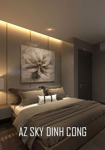 Thiết kế nội thất chung cư AZ Sky Định Công vẻ đẹp trầm, ấm áp