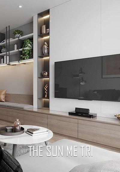 Thiết kế nội thất chung cư hiện đại trẻ trung The Sun Mễ Trì