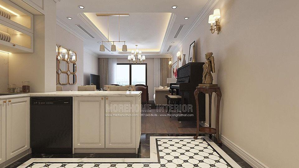 Thiết kế phòng bếp chung cư times city quận hai bà trưng hà nội