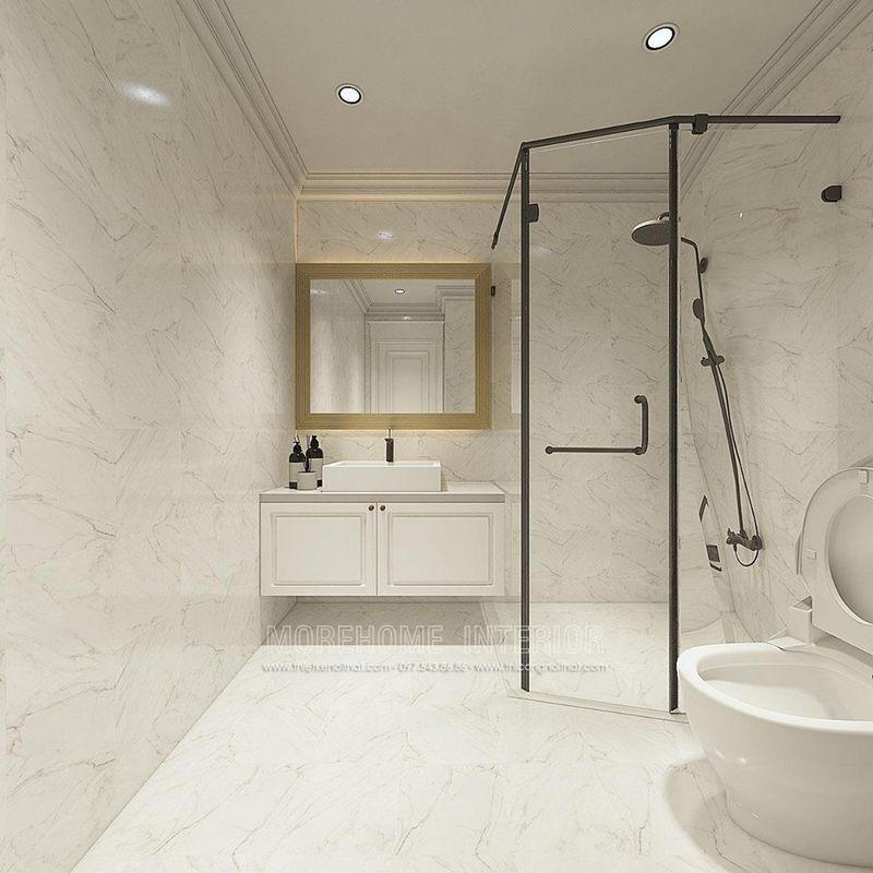 Thiết kế nhà tắm phòng vệ sinh chung cư times city quận hai bà trưng hà nội