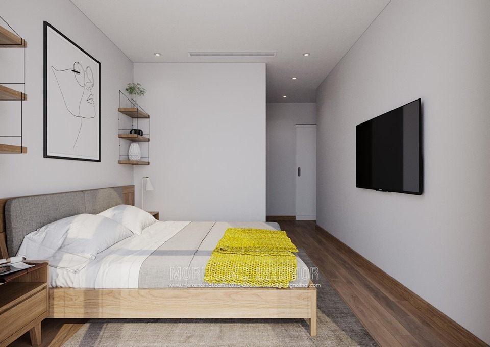 Thiết kế nội thất phòng ngủ chung cư vinhomes skylake phạm hùng