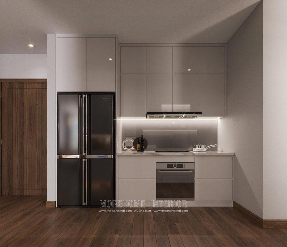 Tủ bếp hiện đại cho chung cư vinhomes skylake phạm hùng